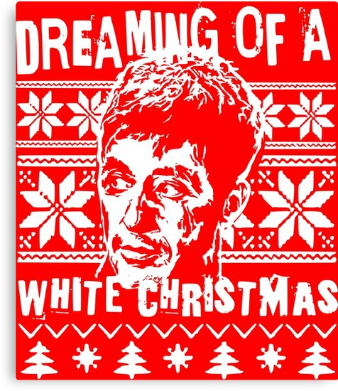 Scarface Christmas Sweater Print Canvas Prints By Mrilladesigns