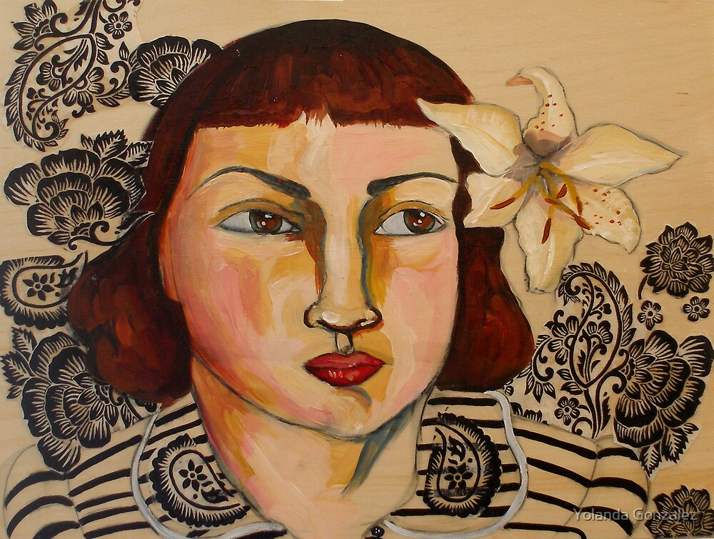 """Portrait of Lauren with Flower in Hair"" by Yolanda Gonzalez"