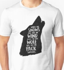The Lone Wolf Dies, But The Pack Survives Unisex T-Shirt
