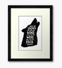 The Lone Wolf Dies, But The Pack Survives Framed Print
