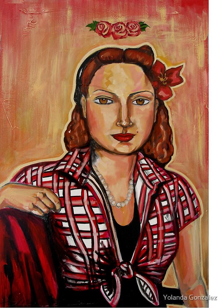 """""""Portrait of Lauren with Crown of Roses"""" by Yolanda Gonzalez"""