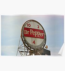Dr. Pepper Bottle Top Poster