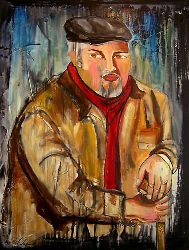 """Portrait of Ruben"" by Yolanda Gonzalez"