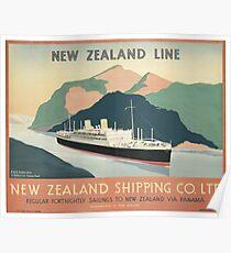 NEW ZEALAND LINE | New Zealand Shipping Co. LTD Poster