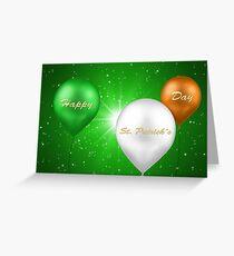 St. Patrick's Day Irish Balloons Greeting Card