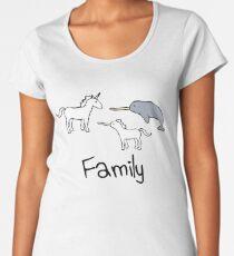 Family - Unicorn, Narwhal, Narwhalicorn Women's Premium T-Shirt
