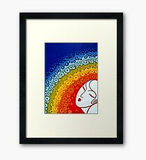 "Art Deco Illustration ""Rainbow in Blossom"" by Erté Framed Print"