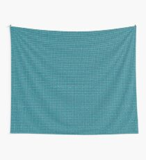 Cyan Clover Wall Tapestry