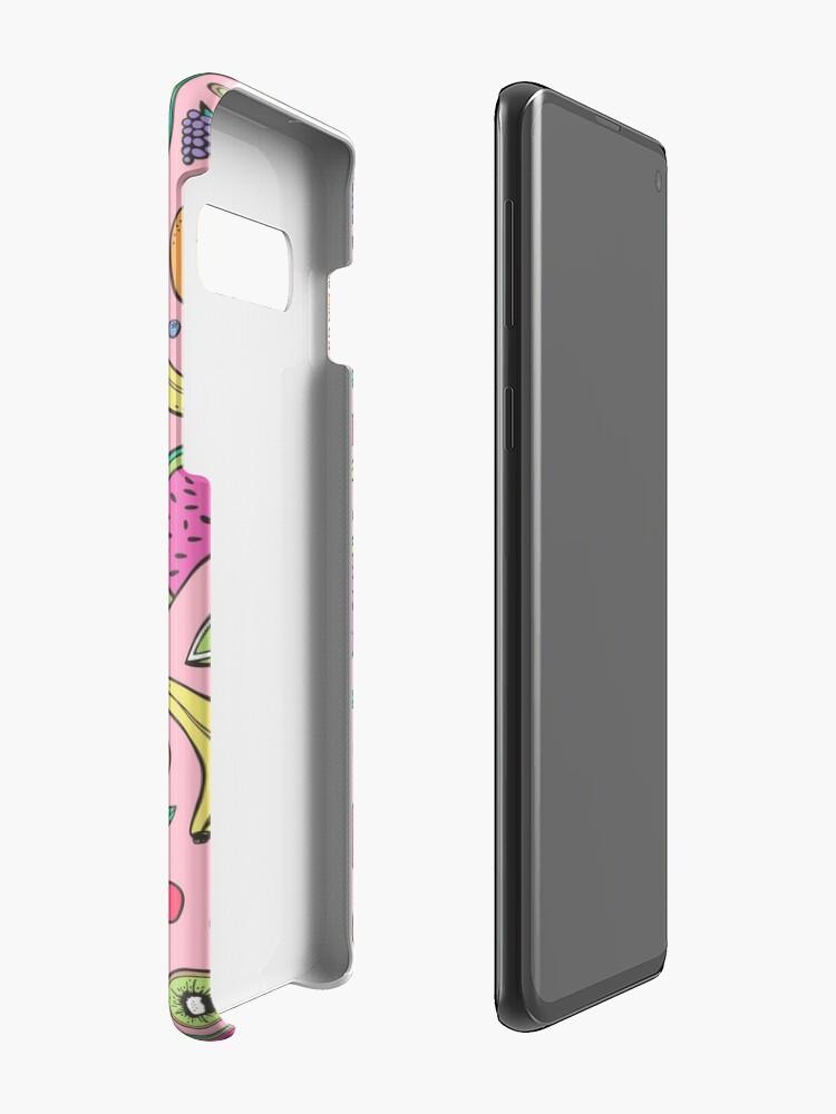 Vista alternativa de Funda y vinilo para Samsung Galaxy Fruta en rosa