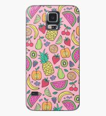 Funda/vinilo para Samsung Galaxy Fruta en rosa