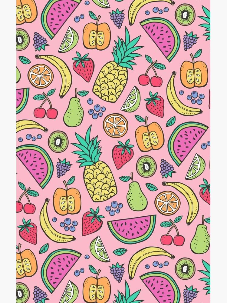 Fruta en rosa de CajaDesign