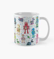 Robots in Space - grey - fun Robot pattern by Cecca Designs Mug