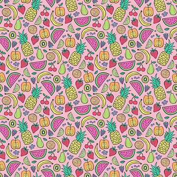 Fruit on Pink by CajaDesign