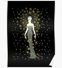 "Art Deco Illustration ""Star Struck"" by Erté Poster"