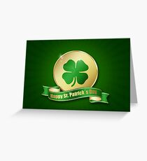 St. Patrick's Day Coin Greeting Card