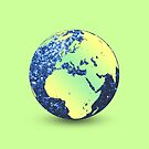 Earth Day Blue Sparkles Globe by PLdesign