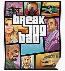 Breaking Bad GTA Style Poster