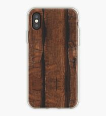 Rustic brown old wood iPhone Case