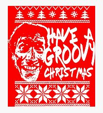 evil dead christmas sweater horror print  Photographic Print