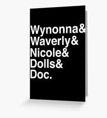 Wynonna Earp Names Greeting Card