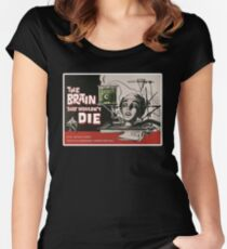 El Cerebro que no Podía Morir - The Brain that wouldn't Die Women's Fitted Scoop T-Shirt