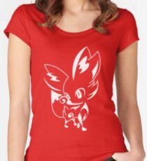 Fennekin Pokemon Women's Fitted Scoop T-Shirt