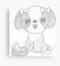 Dog cartoon Canvas Print