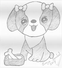 Dog cartoon Poster