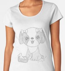 Dog cartoon Premium Scoop T-Shirt