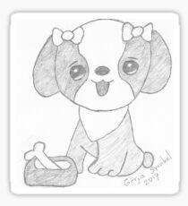Dog cartoon Sticker