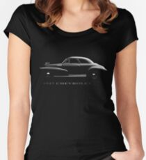 chevy, chevrolet 1947, black shirt Women's Fitted Scoop T-Shirt