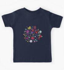 Ducks and Frogs in the Garden - cute floral pattern by Cecca Designs Kids Clothes