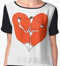 Foxes Mate for Life Women's Chiffon Top