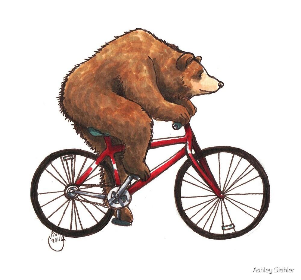 Bear on a Bike by Ashley Weiler