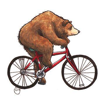 Bear on a Bike by WeileAsh