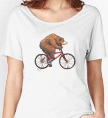 Bear on a Bike Women's Relaxed Fit T-Shirt