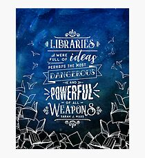 Libraries Photographic Print