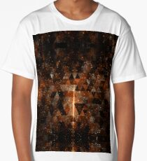 Gold beam in geometric sparkly universe Long T-Shirt
