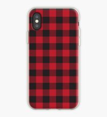 Rot und Schwarz Buffalo Plaid iPhone-Hülle & Cover
