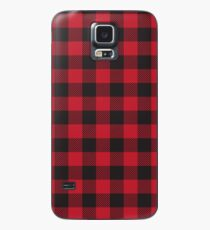 Red and Black Buffalo Plaid  Case/Skin for Samsung Galaxy