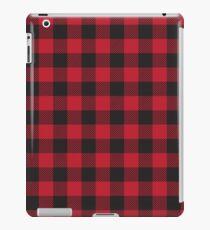 Vinilo o funda para iPad Tela escocesa de búfalo rojo y negro