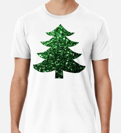 Sparkly Christmas tree green sparkles  Men's Premium T-Shirt