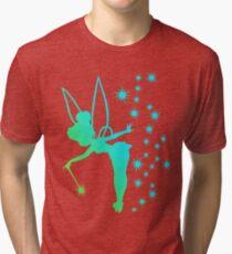Tinkerbell Ombre Sillhouette Tri-blend T-Shirt