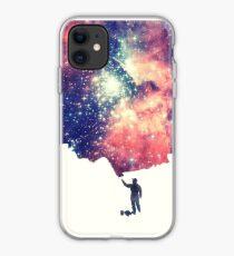 Vinilo o funda para iPhone Pintar el universo (arte espacial colorido y negativo)