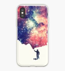 Painting the universe (Colorful Negative Space Art) iPhone-Hülle & Cover