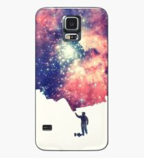 Painting the universe (Colorful Negative Space Art) Case/Skin for Samsung Galaxy