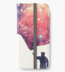Painting the universe (Colorful Negative Space Art) iPhone Flip-Case/Hülle/Klebefolie