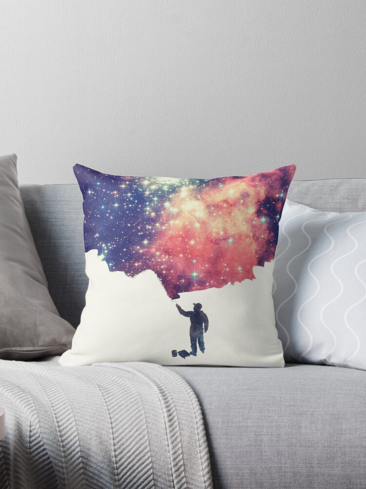 Painting the universe (Colorful Negative Space Art) von badbugs
