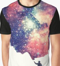 Painting the universe (Colorful Negative Space Art) Graphic T-Shirt