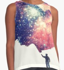 Painting the universe (Colorful Negative Space Art) Sleeveless Top
